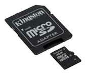 Карта памяти Micro SDHC 4GB Kingston (SDC44GB)